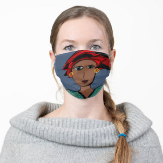AUGUSTIN - TAKE A DIFFERENT ROAD LADY - ADULT CLOTH FACE MASK