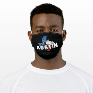 Austin Texas Graphic Print Adult Cloth Face Mask