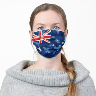 Australia Flag Stylish Camo Look Adult Cloth Face Mask