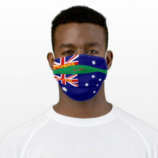 Australia Flag w/ Green Adult Cloth Face Mask