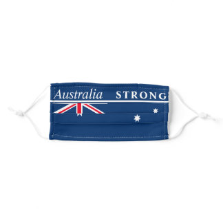 """Australia Strong"" Australian Flag Adult Cloth Face Mask"