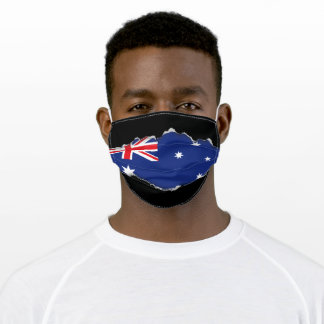 Australian Flag | Faux Torn Out Look Adult Cloth Face Mask