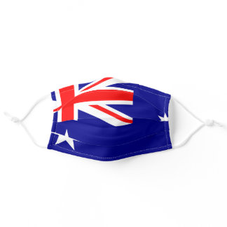 Australian flag mask, Commonwealth Blue Ensign Adult Cloth Face Mask
