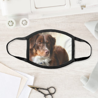 Australian shepherd face mask