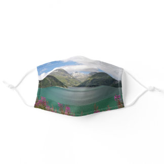Austrian Alps and lake Adult Cloth Face Mask