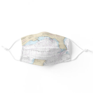 Authentic Gulf of Mexico Atlantic Florida Nautical Adult Cloth Face Mask