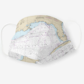 Authentic Gulf of Mexico Atlantic Florida Nautical Cloth Face Mask