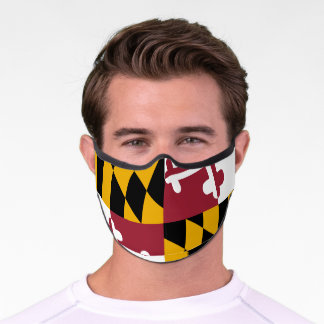 Authentic Maryland State Flag Cloth Face Mask