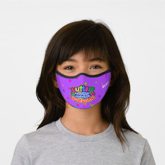 AUTISM another word for AWESOME on PURPLE Premium Face Mask