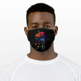 Autism Awareness Choose Kind Support Autistic Kids Adult Cloth Face Mask