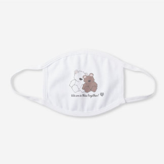 Autism Awareness Cute Bear Mask in this together!