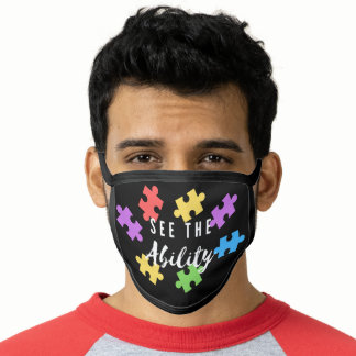 "Autism Awareness ""See The Ability"" Face Mask"