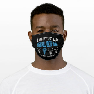 Autism Awerness - Light It Up Blue Autistic Kids Adult Cloth Face Mask