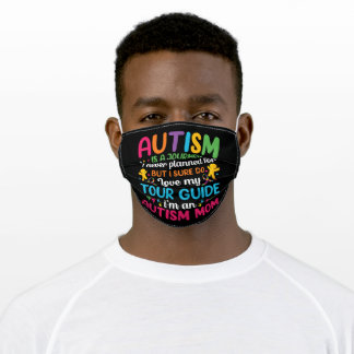 Autism is a journey I never planned for Adult Cloth Face Mask