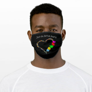 Autistic | Just An Autism Auntie Adult Cloth Face Mask