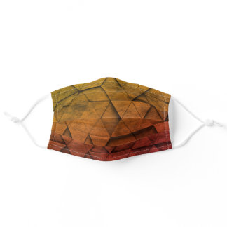 Autumn 3D triangles pattern Adult Cloth Face Mask