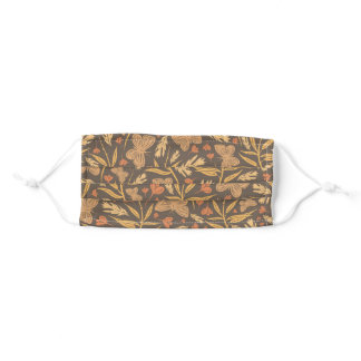 Autumn Butterflies and Foliage Adult Cloth Face Mask