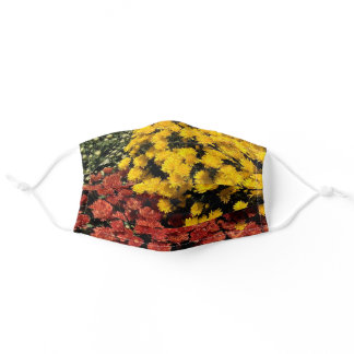Autumn Flowers Adult Cloth Face Mask