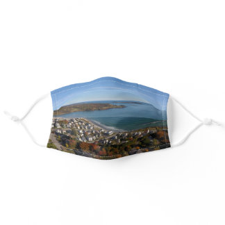 Autumn Foliage Coastal Ocean View Maine Fall Adult Cloth Face Mask