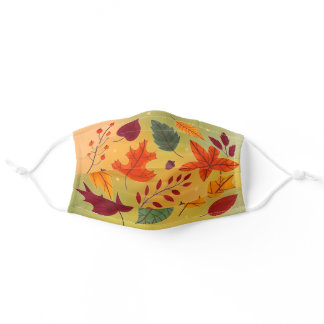 Autumn Leaves Adult Cloth Face Mask