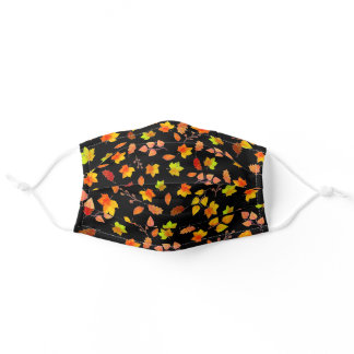 Autumn Leaves Pattern Cloth Face Masks
