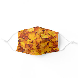 Autumn leaves, the colors of fall adult cloth face mask
