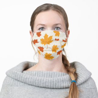 Autumn Maple Pattern Cute Fall Leaves Adult Cloth Face Mask