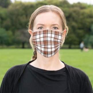 Autumn Plaid Halloween Adult Cloth Face Mask