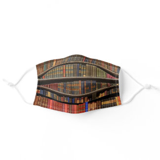 Avid Reader Books on a Shelf Librarian Adult Cloth Face Mask