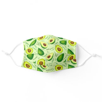 Avocado Pattern Cloth Face Mask