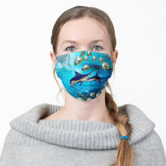 Awesome marlin adult cloth face mask