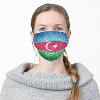 Azerbaijan Flag Adult Cloth Face Mask