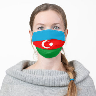 Azerbaijan flag country flag symbol nation ethnic adult cloth face mask