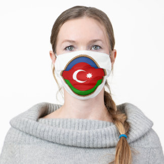Azerbaijan Flag Seal Adult Cloth Face Mask