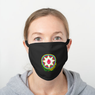 Azerbaijani coat of arms black cotton face mask