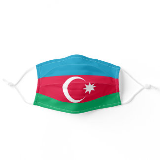 Azerbaijani flag adult cloth face mask