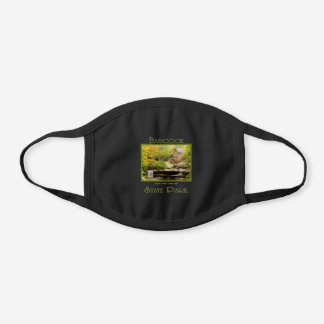 Babcock Grist Mill Autumn Nature Travel Souvenir Black Cotton Face Mask