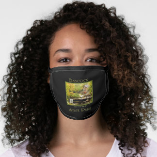 Babcock Grist Mill Autumn Nature Travel Souvenir Face Mask