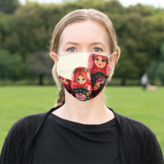Babushka Russian Doll Adult Cloth Face Mask