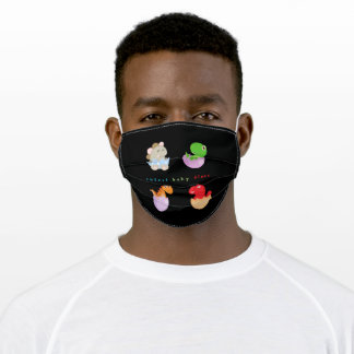 baby dinos adult cloth face mask