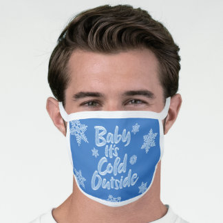 Baby It's Cold Outside Ice Blue Frozen Christmas Face Mask