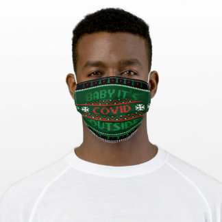 Baby Its Covid outside green reusable Filter Slot Adult Cloth Face Mask