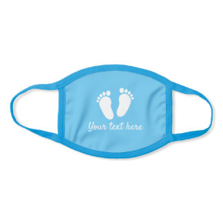 Baby shower party Face Mask with cute feet for boy