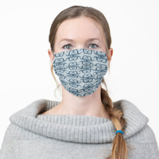 Background with decorative pattern adult cloth face mask
