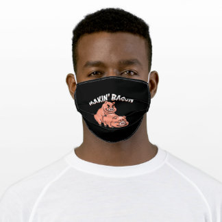 bacon adult cloth face mask