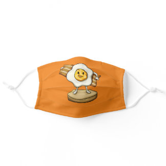 Bacon , egg and bread adult cloth face mask