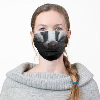 Badger Photo Animal Face Adult Cloth Face Mask