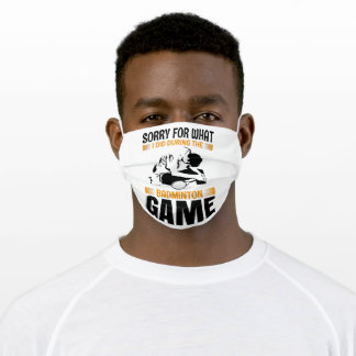 Badminton Game face protection Adult Cloth Face Mask