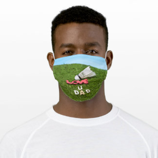Badminton shuttlecock Cloth Face Mask