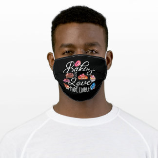 baking is love edible adult cloth face mask